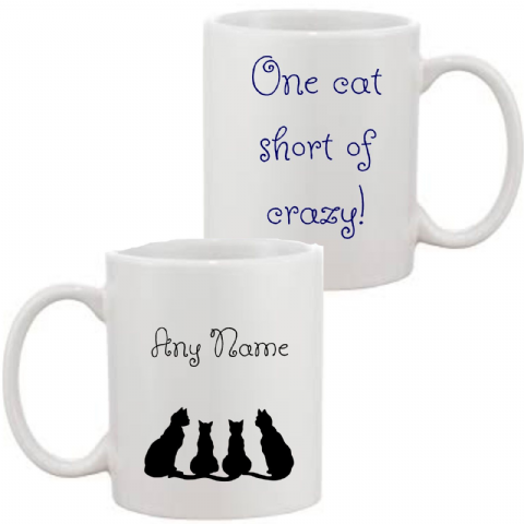 One Cat Short Of Crazy Mug